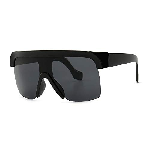 GXM-FR Polarisierte Sonnenbrille, Retro Large Flat Top UV400 Blendschutz, Anti-Fatigue-Brille, Outdoor-Reiten für Damen, Sport, Street Shooting-Brille,A