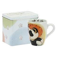 Idea Regalo - THUN - Tazza Mug Panda Capricornus con Scatola in Latta - Linea Oroscopo - Porcellana - 300 ml