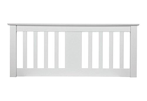Sweet Dreams Kestrel 5FT King Size - 150cm Wooden Headboard - White