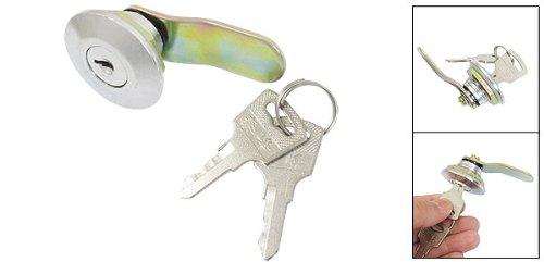 sourcingmap® Silber 21 mm Gewinde Möbel Schrank, Metall, Flugzeug Cam Lock