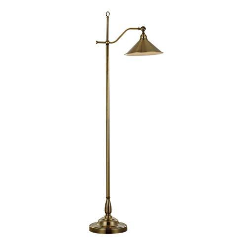Stehlampe, amerikanische minimalistische Wohnzimmer Schlafzimmer Antik Kupfer LED vertikale Angel Lampe. -