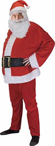 Kostüm Weihnachtsmann Xxl - Weihnachtsmannkostüm Universalgröße 5-teilig Kostüm Nikolaus Weihnachtsmann