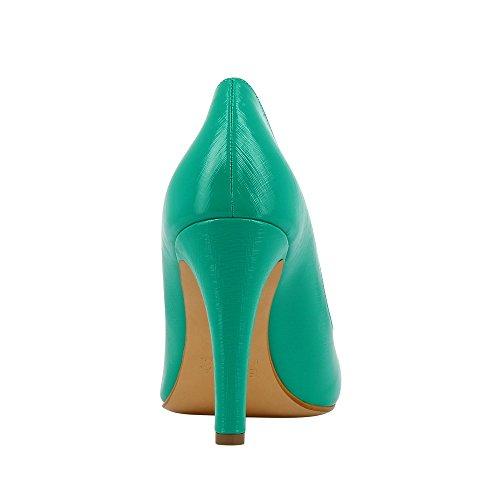 CRISTINA escarpins femme cuir verni imprimé Vert