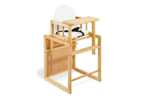Pinolino - 151303 - Kombihochstuhl Nele - leicht umbaubar zur Stuhl-Tisch-Kombination - Maße 44 x...