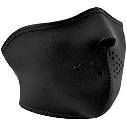ZANheadgear Máscara de Neopreno para Moto, Quad, Esquí y Snowboard WNFM114 NEGRO
