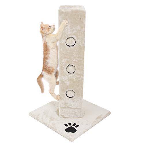Albero per gatto con graffiatoio cuccia giocattolo gatti parco giochi tiragraffi in sisal naturale 80 x 45 x 45 cm (colore beige dixie 30085)