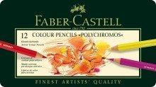 Faber Castell: Lápiz Polychromos: Metal Tin–Juego de 12