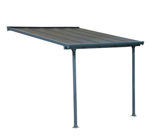 Palram Feria Terrassenüberdachung, Grau, 307x295x305 cm