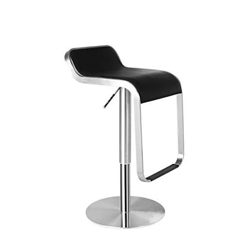 L.HPT Stuhl, Barstuhl, Barhocker, Edelstahl Lift Bar Chair Einfache Mode Drehsessel Höhenverstellbar Mit Armlehnen Hocker -