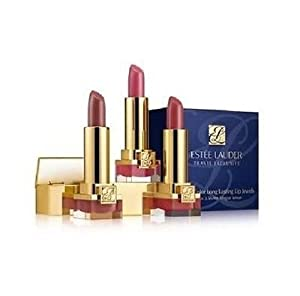 Estee Lauder Pure Color Long Lasting Lip Jewels Lipsticks Trio, Blushing Candy, Fig