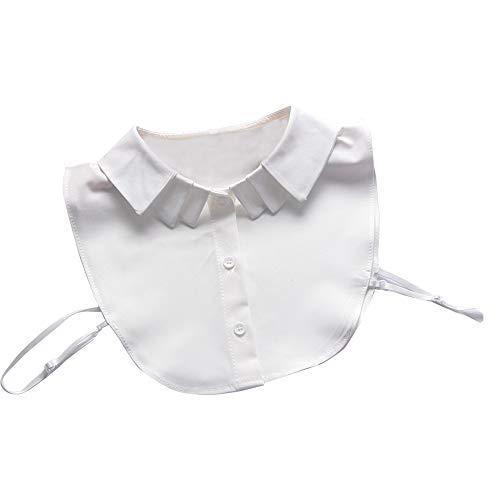Lecimo Lady Cotton Fake Collars, Halbe Hemdkragen, Abnehmbarer Kragen, Faux Fake Revers Hemdkragen, Halskette Abnehmbarer Kragen