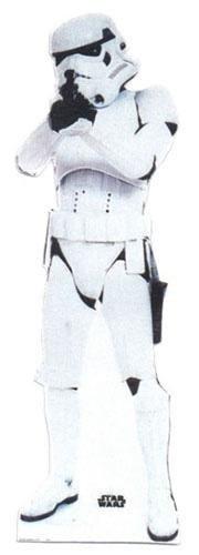 Lebensgroßer Pappaufsteller) Stormtrooper (Aufsteller Standup Cardboard Cutout) ()