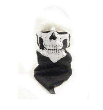 WAWO Neu Skeleton Schädel Bandana Snowboard Skifahren Motorrad Biking Rave Maske (Kostüm Wild Thing)