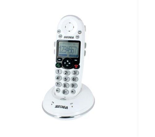 Telefon verstärkt Senior schnurlos Tastatur Großtasten Klingelton Flash 80dB (Verstärkt Tastatur)