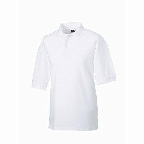 Russel Herren Klassik Kurzarm Polycotton Polo Shirt Smaragdgrün