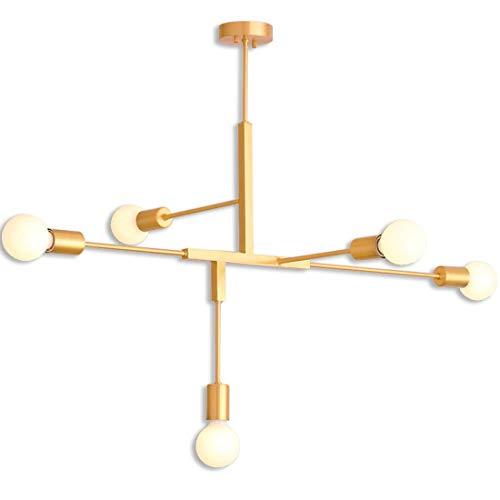 WSXXN Deckenleuchte, Postmodern Nordic Geometric Line Pendelleuchte Persönlichkeit Restaurant Apartment Schlafzimmer Lampe Einfache Kreative Designer Kronleuchter -