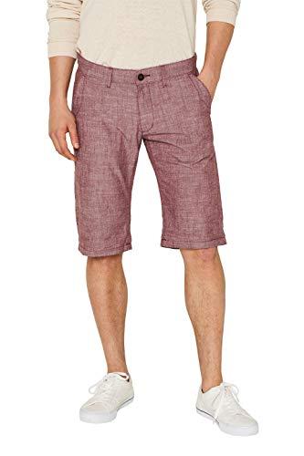 edc by ESPRIT Herren 059Cc2C008 Shorts, Rot (Bordeaux Red 600), W(Herstellergröße: 34)