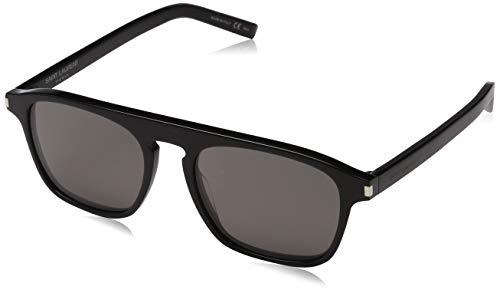 Saint Laurent Herren SL 158 001 52 Sonnenbrille, Black/Grey,