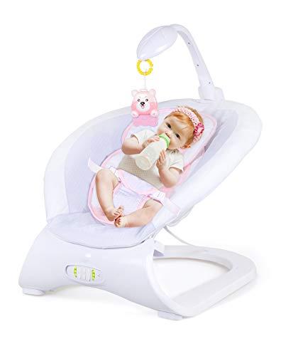 Lvbeis Babywippe Musik Elektrische Babyschaukel Vibration Schaukel Kinderwippe,pink