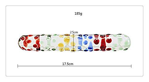Handschellen Schmuck Kostüm - Z-one Glasstab mit doppeltem Kopf, bunt, 1 Stück