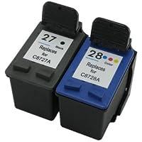 Prestige Cartridge HP 27 / HP 28 2 Cartucce d'Inchiostro Compatibile per Stampanti HP Officejet/Deskjet/Fax Serie, Nero/Colore - Confronta prezzi