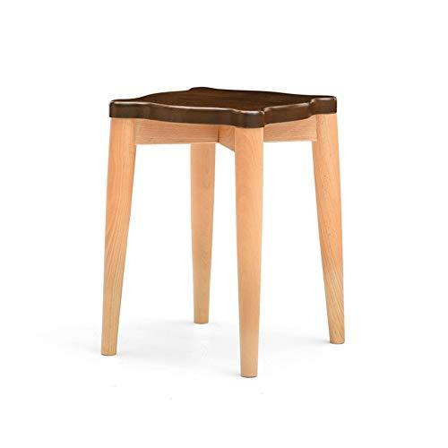 Hängende Unterstützung zum Entspannen von Beinen und Füßenkompatibles Bad nach Hause Sofa Beistelltisch Schemel, reines festes Holz-kleines quadratisches Bank-Walnuss-Mode-Make-up-Eitelkeits-Schemel-S -
