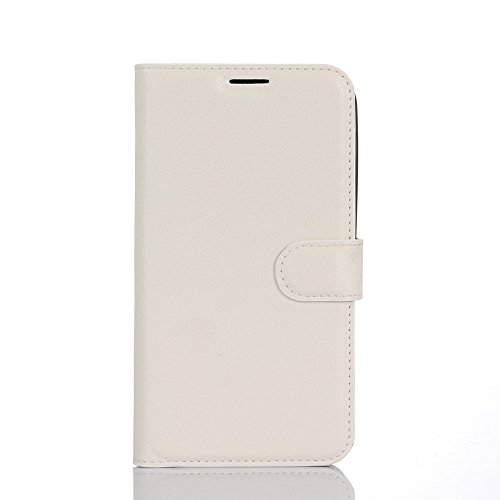 Kihying Hülle für Asus Zenfone Go TV ZB551KL Hülle Schutzhülle PU Leder Flip Wallet Fashion Geschäft HandyHülle (Weiß - JFC09)