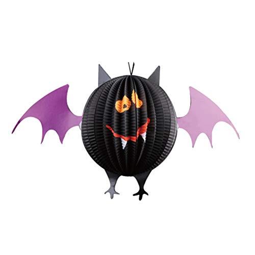 Toyvian Halloween Papierlaterne Party Wabenball Halloween Spooky Bat Dreidimensionale Ornament Lustige Pub Punk Decor Zubehör