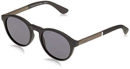 Tommy Hilfiger Herren TH 1476/S IR 003 51 Sonnenbrille, Schwarz (Black/Grey Blu)