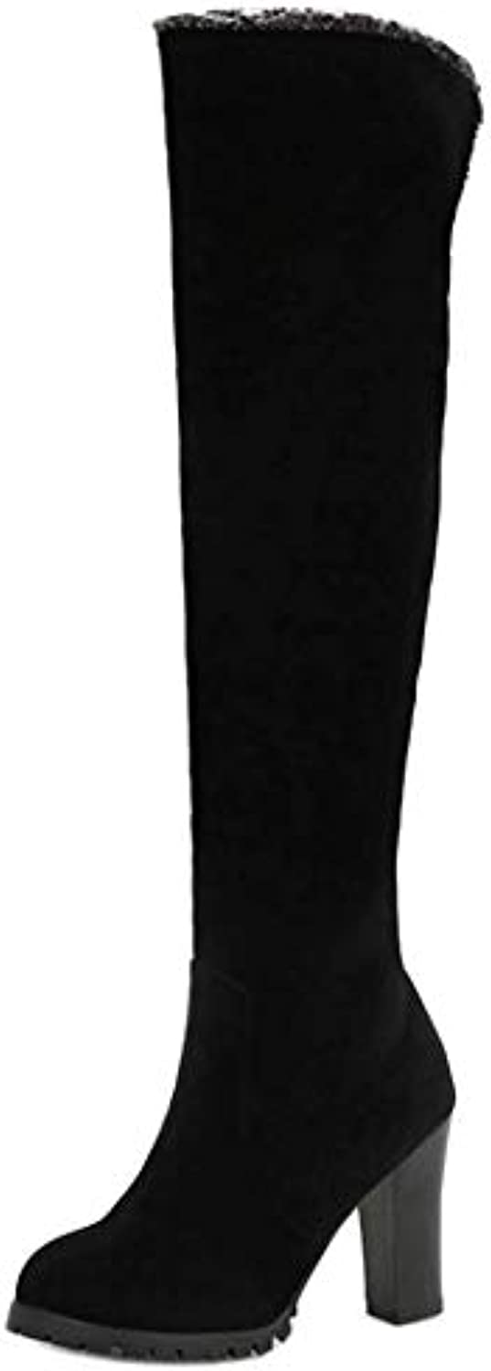 TAOFFEN Femmes Over Boots The Knee Boots Over Pull onB07K1RXR7NParent 428b82
