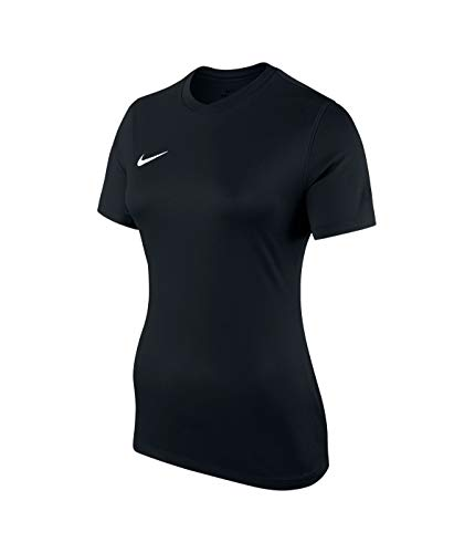 Nike Damen  Dry Team Park VI Football Jersey T-shirt, Schwarz/Weiß, S Schwarzer Damen-parka