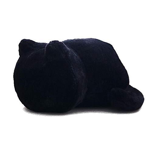 Jannyshop Plüschspielzeug für Katze Plüsch Puppe Stofftier Kinder Kissen Schwarz