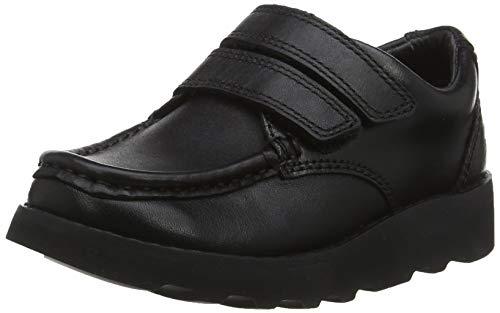 Clarks Jungen Crown Tate Derbys, Schwarz (Black Leather), 34 EU -