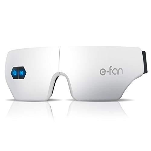 ANKIKI Kabellos Augenmassagegerät Faltbar Erhitzter Schlaf Augenmaske mit Mehrfrequenz-Vibration Druckpunktmassage zum Entlasten Sie die Augen Dunkler Kreis -