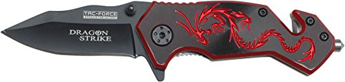 Tac-Force Outdoormesser Red Dragon, Klingenlänge: 5,7 cm, TAFO-1150 Red Dragon Taschenmesser