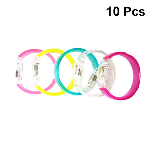Amosfun 10 STÜCKE Led Armbänder Leuchten Spielzeug Party Favors Supplies Hochzeit Geburtstage Baby Shower Geschenk Zufällige Farbe - Radfahrer Knöchel Band