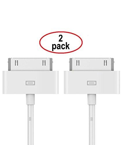 MMOBIEL 2 x 30 PIN Kabel 1 m kompatibel mit iPhone 4 4S iPad 1/2 / 3 iPod Nano 5th / 6th Gen/iPod Touch 3rd / 4th Gen -