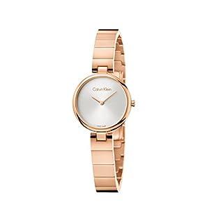 Calvin Klein Damen Analog Quarz Uhr mit Edelstahl Armband K8G23646