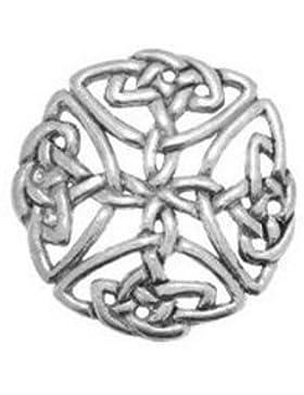 Zinn groß Badge Pin oder offener keltischer Knoten Brosche Geschenk für Schal, Krawatte, Mütze, Mantel oder Tasche