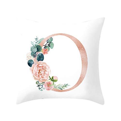 Npradla federa per cuscino con lettere per cuscino per divano decorazione per la casa federaseta per proteggere capelli