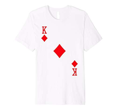 Halloween Diamant Kostüm - King of Diamanten Kostüm T-Shirt Halloween Deck Of Cards