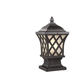 IP56-zertifiziertes traditionelles schwarzes Pfosten-Säulenlaterne-Licht im Freien Garten-Beleuchtung Stehlampe Beleuchtung Ihres Weges einzelne Hauptaluminium-Säulenlampe (Größe : 40 * 70cm)