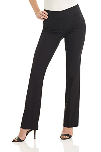 Rekucci Damen Seien Sie in Komfort bekleidet schmale Bootcut-Hose (4,Schwarz)