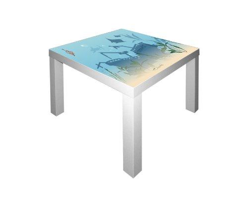 Unterwasserwelt Möbelsticker / Aufkleber für den Tisch LACK von IKEA - IM34 (Fisch-spiel-tisch)