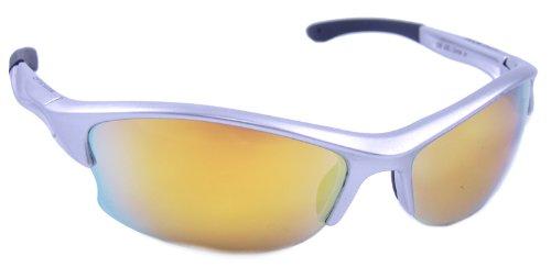 Optik Edge semi-Rimless Rahmen Zone in Sonnenbrille, Silber