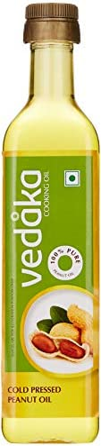 Amazon Brand - Vedaka Cold Pressed Peanut (Groundnut) Oil Bottle, 500ML