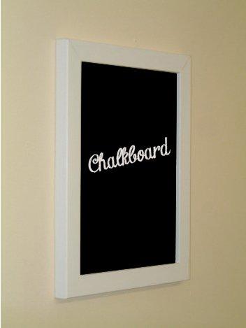 h7 white framed chalkboard 16quot - White Framed Chalkboard