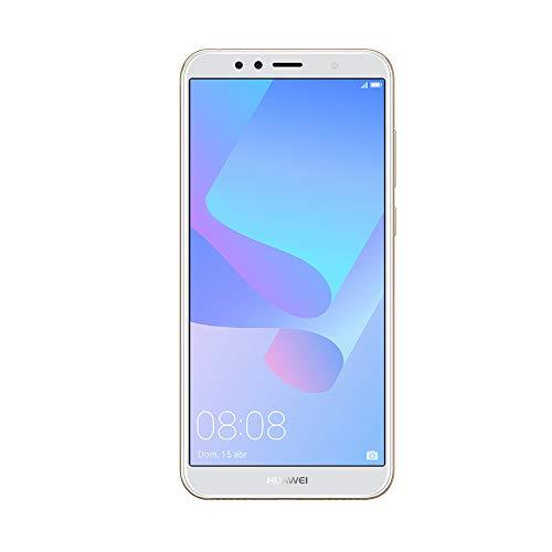 """Huawei Y6 - Pack de carcasa y smartphone de 5.7"""" (RAM de 2 GB, memoria de 16 GB, cámara de 13 MP, Android 8.0) Dorado"""