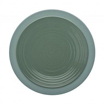 Lot de 6 assiettes plates BAHIA coloris Argile vert