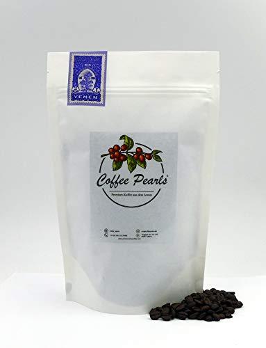 Coffee Pearls │Haraz Kaffee 100% Arabica - Hochwertiger Spezialitäten-Kaffee aus dem Jemen │ ganze geröstete Bohnen │ (Dunkel, 250 g)